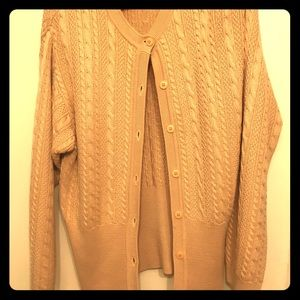 Granny chic knit cardigan silk and wool